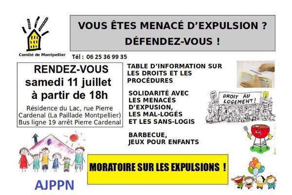 L'association Droit au Logement (DAL) Montpellier se mobilise avec la reprise des expulsions