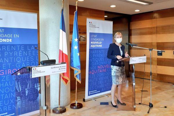 conférence de presse de Fabienne Buccio, préfète de région et de la Gironde, mercredi 30 septembre -