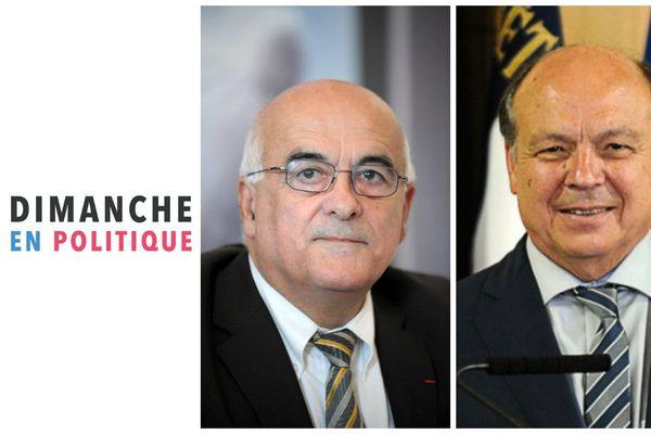 Christian Monteil, président du Conseil Départemental de Haute-Savoie et Christian Dupessey, Maire PS d'Annemasse