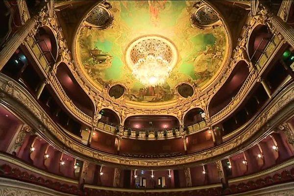 Le théâtre à l'italienne de Cherbourg en Cotentin, inauguré en 1882.