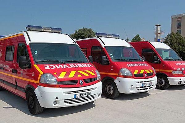 Les trois ambulances ont quitté leur services auprès des pompiers du Gard. - Juillet 2015