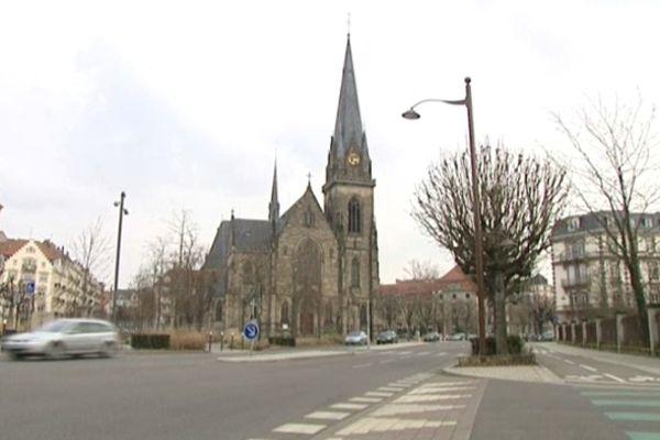 L'église Saint-Maurice, place Arnold à Strasbourg