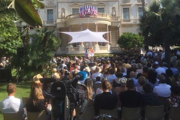 Cérémonie d'hommage aux victimes de l'attentat de Nice, le 14 juillet 2019, devant le musée Masséna