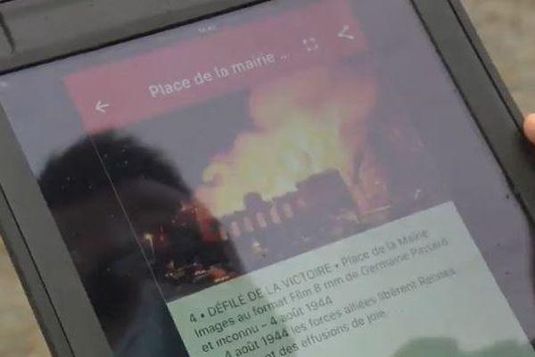 L'appli géolocalise l'utilisateur et lui propose des vidéos d'événements historiques qui se sont déroulés à moins de 100 mètres.