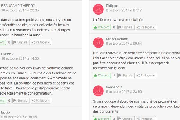 Les commentaires laissés sur le site enrichissent le débat. On peut y réagir, exprimer son accord ou au contraire son désaccord