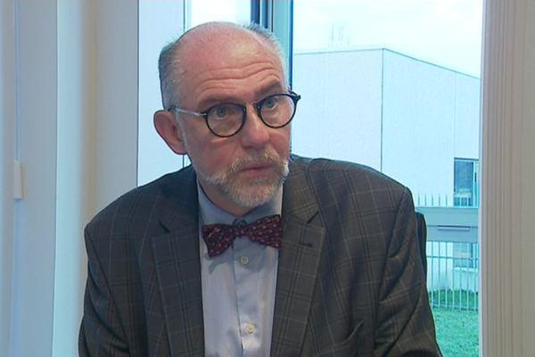 Frédéric Marche, maire de Cléon le 13 octobre 2020