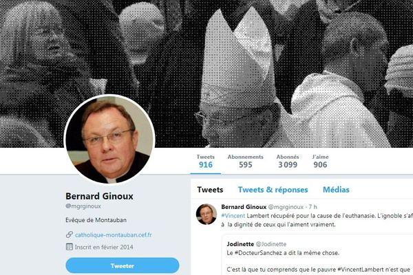 Depuis le mois de janvier, l'évêque Bernard Ginoux a tweeté une vingtaine de fois sur l'affaire Vincent Lambert.