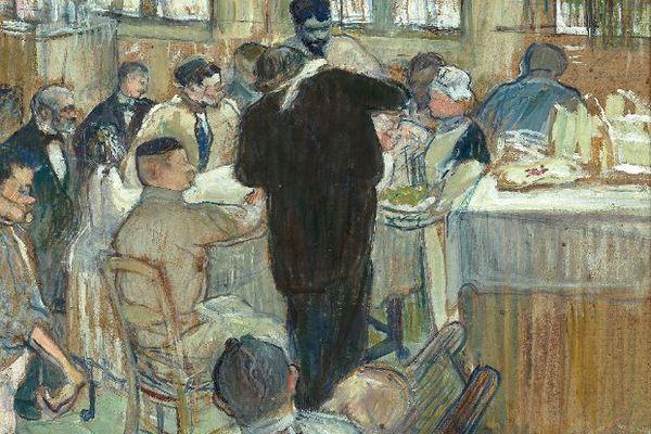 Une opération par le Docteur Péan à l'Hôpital International, cette œuvre de Toulouse-Lautrec a été réalisée en 1891.
