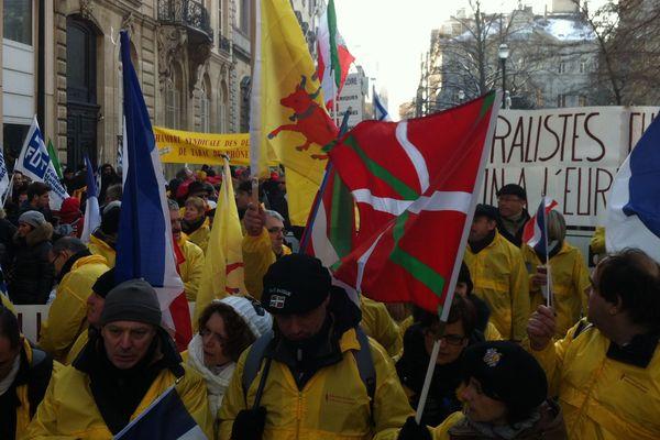 Parmi les manifestants, de nombreux buralistes venus du Nord Pas-de-Calais.