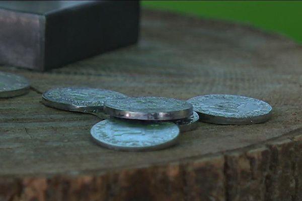 """Le """"Louis"""", une monnaie locale, à Carrières-sous-Poissy, dans les Yvelines."""