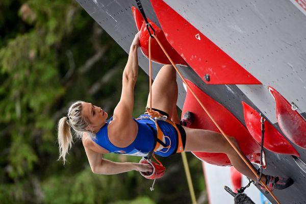 La grimpeuse de 25 ans aimerait devenir la première championne olympique d'escalade.