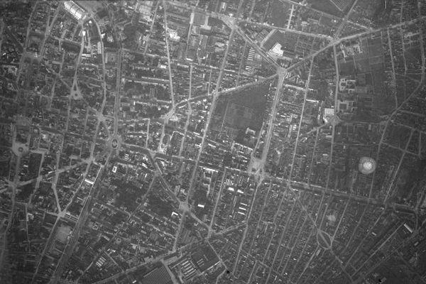 extrait d'une vue aérienne de Reims (1929)