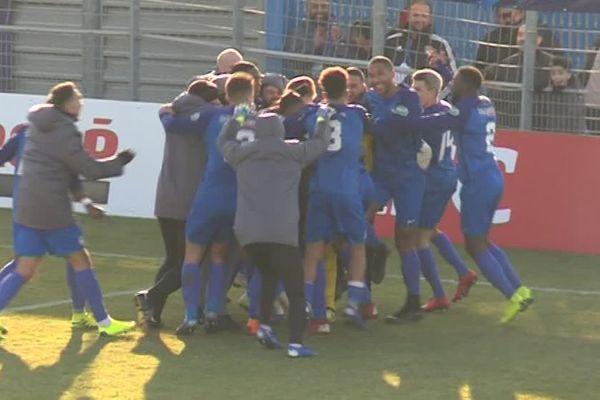 Victoire du Marignane-Gignac FC (N) face à Clermont (L2) lors des 32e de finale de la Coupe de France samedi 5 janvier 2019