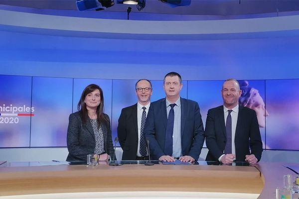 Marine Tondelier, notre journaliste Jean-Louis Manand, Patrick Piret et Steeve Briois