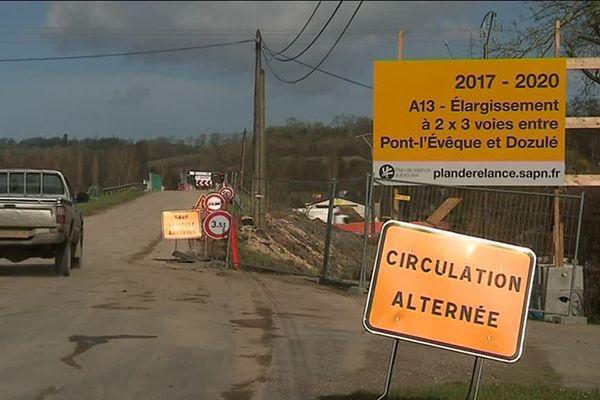 L'élargissement de l'A13 entraîne des désagréments dans les communes limitrophes