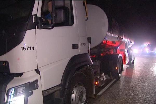 Haute-Saône : le camion Lactalis bloqué par les agriculteurs