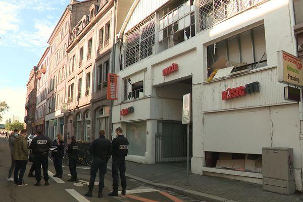 La rue Kageneck dans le quartier gare de Strasbourg ce mercredi 2 septembre au matin