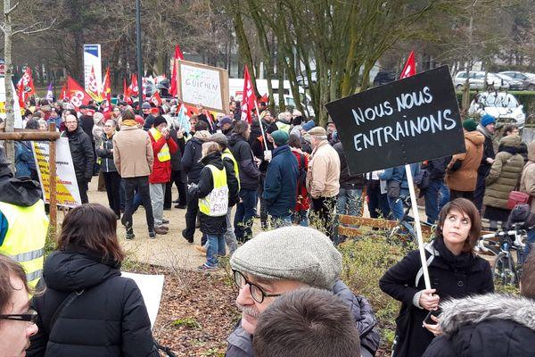 Manifestation de gilets jaunes et de certaines organisations syndicales le 5 février à Rennes