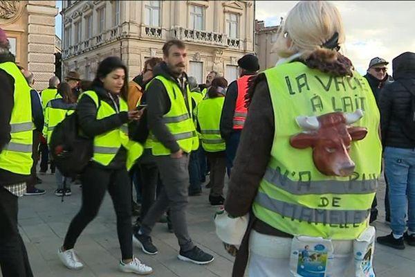 Les gilets jaunes étaient environ 600 à Montpellier, ce samedi, avant d'être dispersés dans la soirée