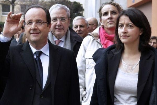 Archives - François Hollande et Cécile Duflot en Ile-de-France, mars 2013