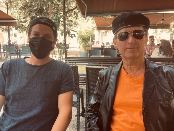 Kevin, président du Bloc lorrain et Jean-Paul Madier Gilet Jaune de la Porte Sud