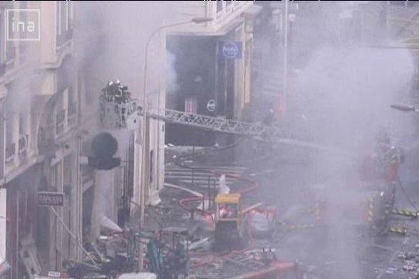 Une violente explosion cours Lafayette le 28 février 2008 coûte la vie à un pompier