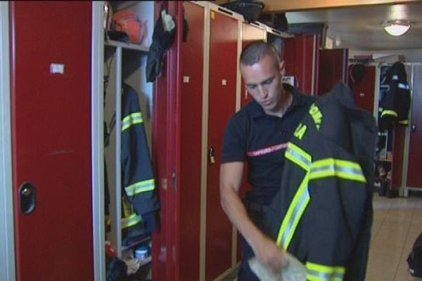 A Lons-le-Saunier, les pompiers et les fortes chaleurs : leur équipement leur tient chaud !