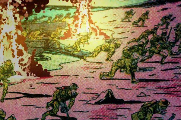 Jack Kirby dessine dès 1943 ce que sera le débarquement