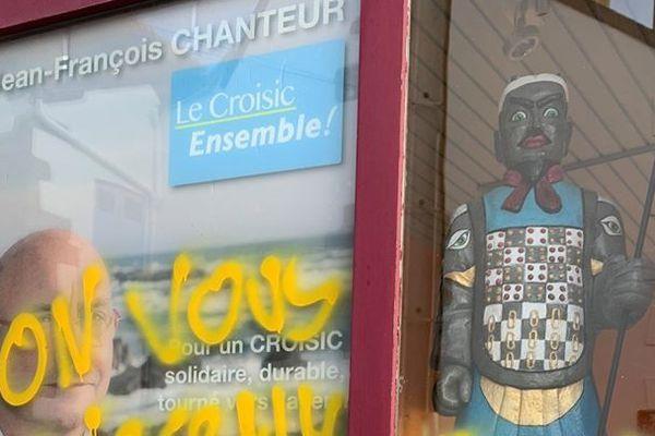 La permanence de Jean-François Chanteur a été dégradée dans la nuit de samedi à dimanche.