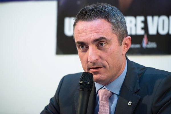 Stéphane Ravier en conférence de presse le 15 janvier 2015.