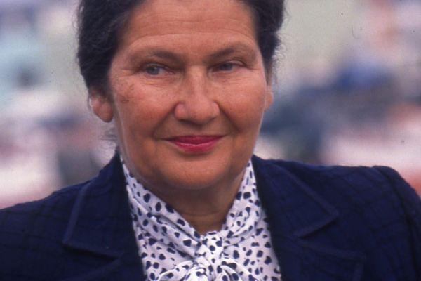 Simone Veil, première présidente du Parlement européen.