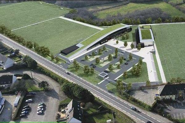 le projet de centre de formation du Stade Brestois,  à Plougastel.