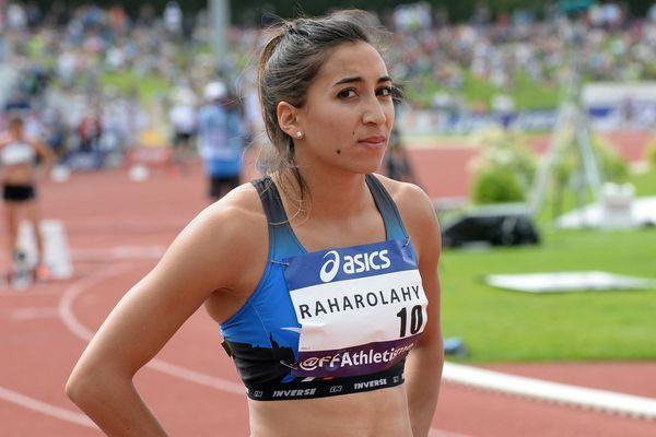 Agnès Raharolahy ici au championnat de France ELITE Athlétisme à Angers (49) le 25 juin 2016.