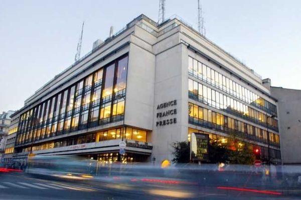Le siège de l'Agence France Presse à Paris.