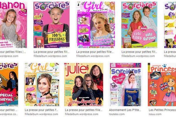 """Plusieurs couvertures de magazines destinés aux """"filles""""."""