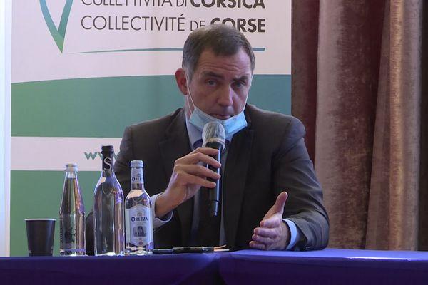 Lors de la conférence de presse de l'executif de Corse, Gilles Simeoni tire à boulets rouges sur l'Etat