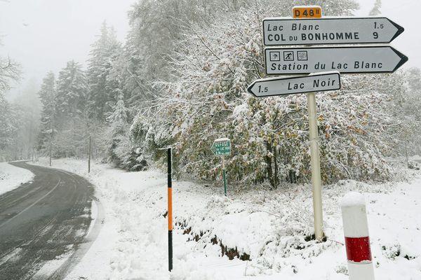Le Haut-Rhin a revêtu son blanc manteau.