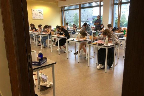 L'épreuve du bac de philo au lycée Nelson Mandela, à Nantes, le 17 juin 2021