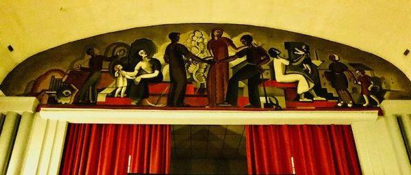 la fresque de la salle des fêtes