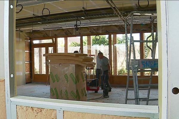 les matériaux utilisés pour la construction de la nouvelle école de l'Isle d'Espagnac sont le plus écologiques possible.