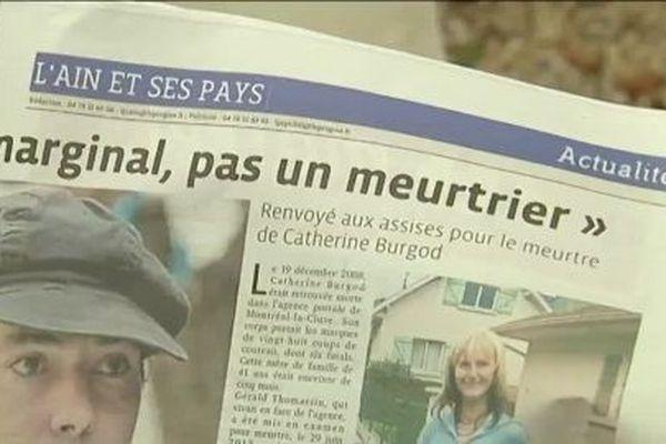 """Gérald Thomassin avait été mis en examen à Bourg-en-Bresse en 2013 pour """"vol avec arme et meurtre sur personne chargée d'une mission de service public"""" suite au meurtre de Catherine Burgod, postière à Montréal-la-Cluse."""