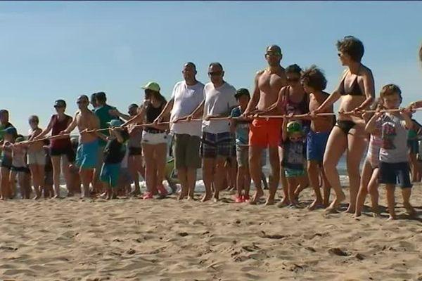 Un nouveau jeu sur la plage ? Non, plutôt une initiation à la pêche à la traîne pour les touristes, à Port-la-Nouvelle, dans l'Aude. Une matinée ludique mais aussi instructive : le public a pu découvrir les difficultés du métier de pêcheur.