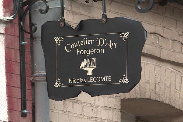 Nicolas Lecomte souhaiterait ouvrir une boutique au sein de son atelier situé à Longueville-sur-scie.