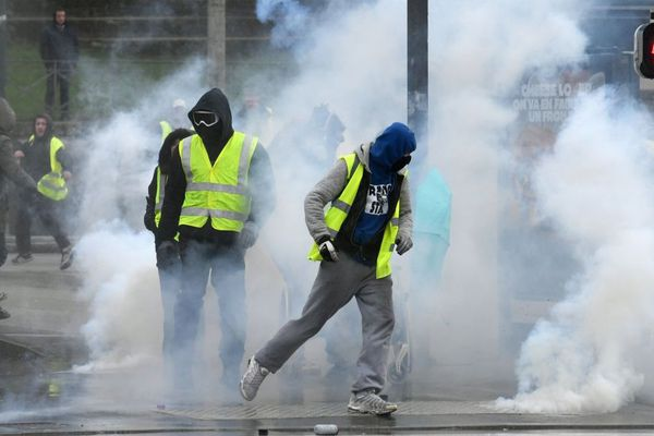 La manifestation des Gilets jaunes à Quimper ce samedi 9 mars, avait dégénéré en fin de journée