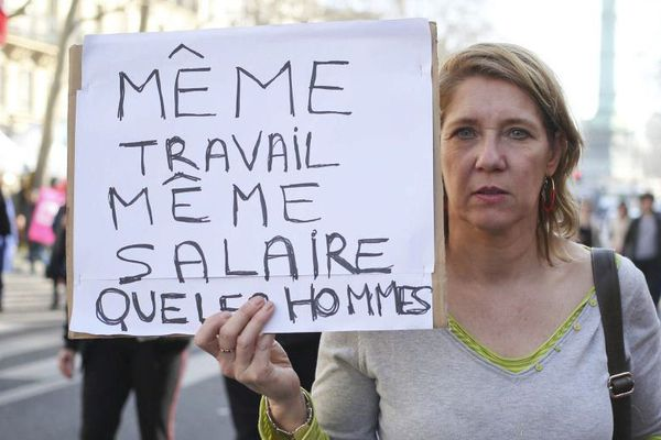Le 8 mars 2014, manifestation pour la journée de la Femme a Paris.