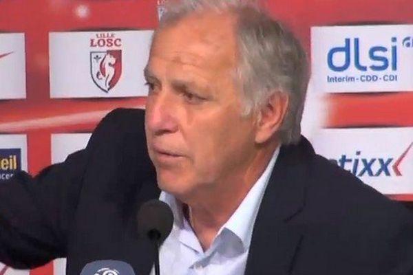 René Girard (LOSC), lors de la conférence de presse d'après-match.