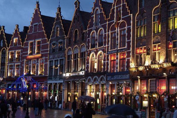 Une vue du centre-ville de Bruges.