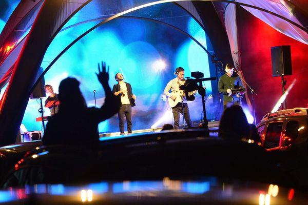 Soirée post confinement : le groupe Boulevard Des Airs en concert drive-in à Albi dans le Tarn