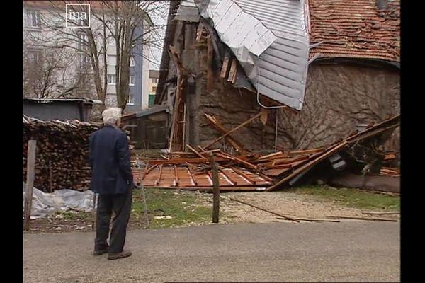 En décembre 1999, les tempêtes Lothar et Martin ont causé de nombreux dégâts en Franche-Comté.