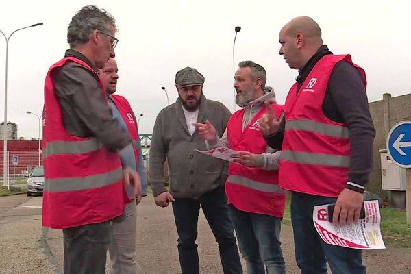 Le syndicat Force Ouvrière de la raffinerie Total à Gonfreville l'Orcher